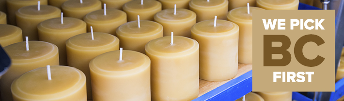 Honey Candles made in Kaslo, BC
