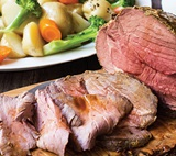 Roast Beef with Potato & Vegetable Casserole