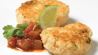 Almond Crusted Shrimp Cakes