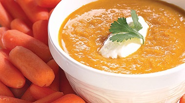 Baby Carrot Soup with Cilantro and Curry