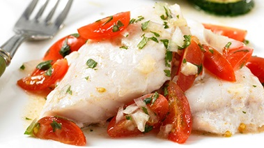 Baked Snapper with Grape Tomato Salsa