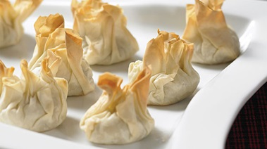 Blue Cheese and Walnut Filo Bundles