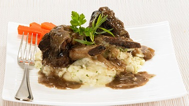 Braised Beef Short Ribs on Herbed Mashed Potatoes