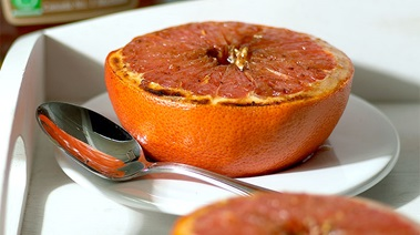 Broiled Grapefruit with Maple and Spice