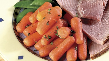 Baby Carrots with Maple, Ginger and Cinnamon