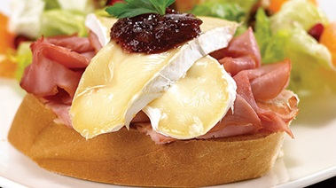 Camembert and Smoked Ham Melts