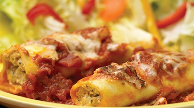 Cannelloni Stuffed with Mascarpone and Italian Sausage