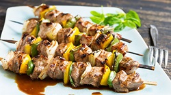 Cherry Balsamic Marinated Pork Tenderloin Kebabs