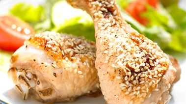 Chilled Honey Sesame Drumsticks