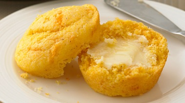 Cornbread Muffins with Old Cheddar