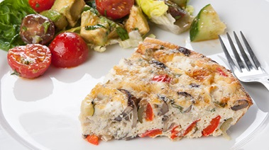 Crustless Quiche with Roasted Vegetables