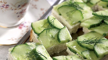 Cucumber Sandwiches with Dill Horseradish Cream Cheese