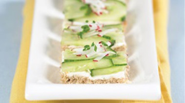 Cucumber, Radish and Chive Tea Sandwiches