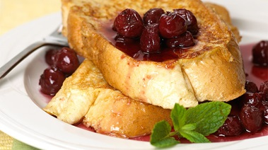 French Toast with Maple Cherry Sauce