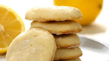 Glazed Lemon Shortbread Cookies