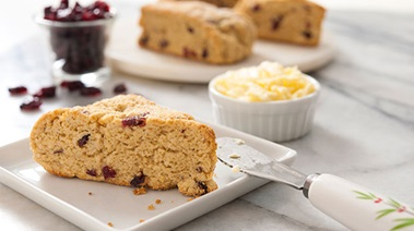 Gluten-Free Scones with Cranberries