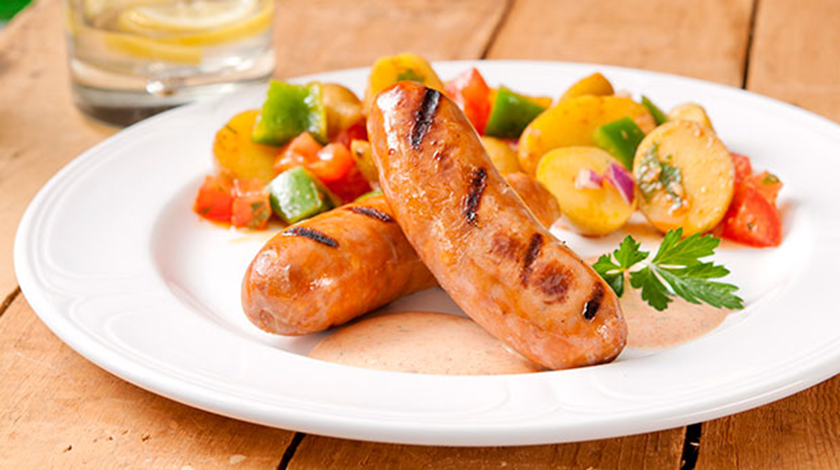 Grilled Chorizo Sausages with Garlic Paprika Mayo