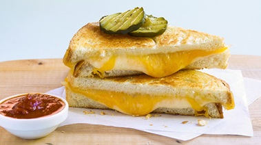 Grilled Triple-Cheese Sandwiches