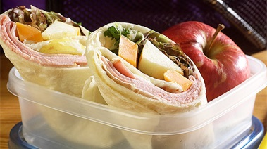 Ham, Apple and Cheddar Wraps
