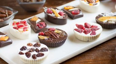 Homemade Fruit and Nut Chocolates
