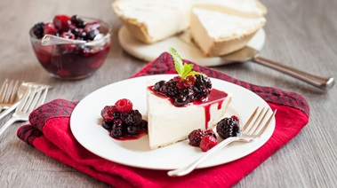 Ice Cream Pie with Mixed Berry Compote
