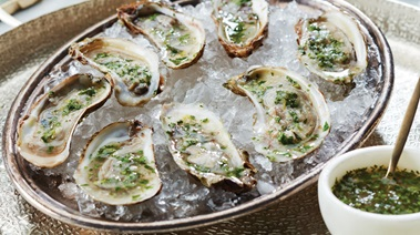 Lemon Herb Mignonette for Raw Oysters