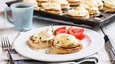 Make Ahead Baked Eggs Benedict