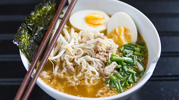 Miso Ramen with Pork and Green Onion