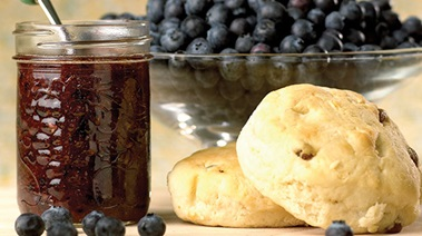 No Cook Blueberry Freezer Jam with Citrus and Cinnamon