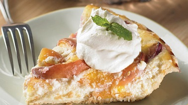 Nectarine and Ricotta Pie