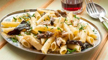 Pasta with Mixed Mushrooms, Sage and Parmesan