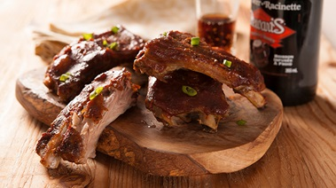 Pork Ribs with Root Beer BBQ Sauce