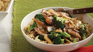 Pork Stir-Fry with Broccoli & Mushrooms