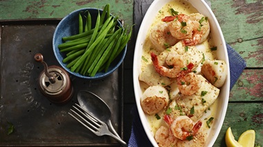 Quick Provencal Seafood Bake