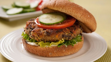 Quinoa, Bean and Vegetable Burgers