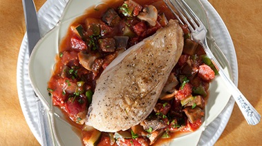 Roast Chicken Breast with Ratatouille
