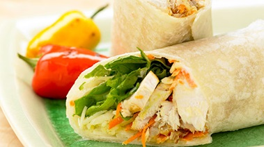 Roast Chicken Wraps