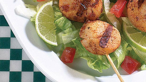 Scallop Skewers with Louisiana-style Spice Rub