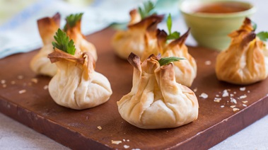 Shrimp and Mango Chutney Phyllo Bundles