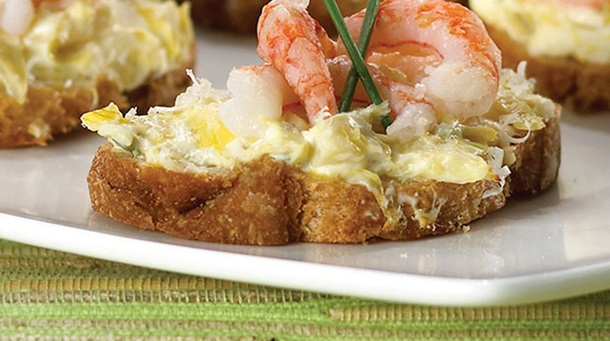 Shrimp and Artichoke Melts