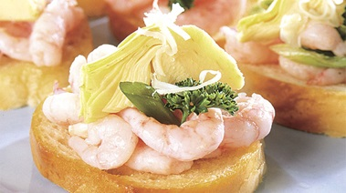 Shrimp and Artichoke Bruschetta