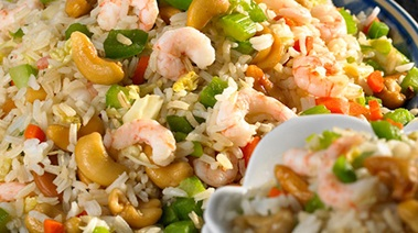 Shrimp and Cashew Fried Rice