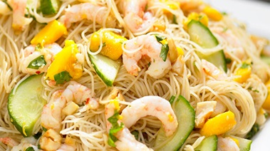 Shrimp and Mango Noodle Salad
