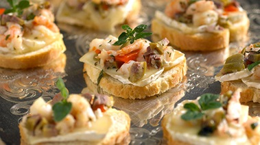 Shrimp, Olive and Brie Melts