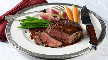 Sirloin Steaks with Marchand de Vin Sauce