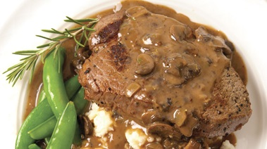 Sirloin Steaks with Quick Mushroom Sauce