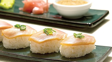Smoked Tuna Sushi with Sesame Ginger Dip