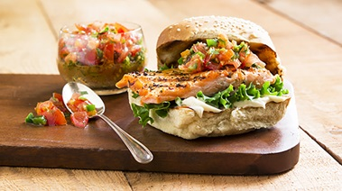 Spicy and Wild Salmon Burgers