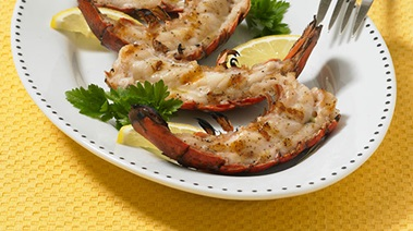 Split Grilled Lobster Tails with Aioli