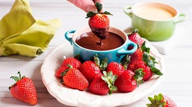 Strawberries with Belgian Chocolate Dipping Sauces